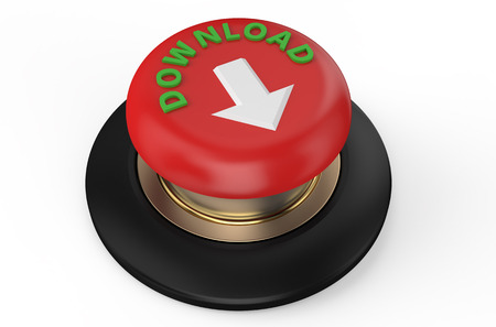 download button: red download button isolated on white background