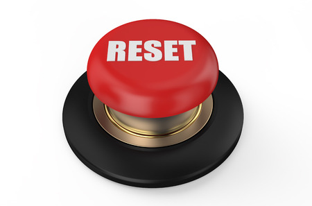 pushbuttons: reset red  button isolated on white background Stock Photo