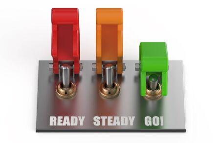 panel de control: panel de control con interruptor aislado en fondo blanco