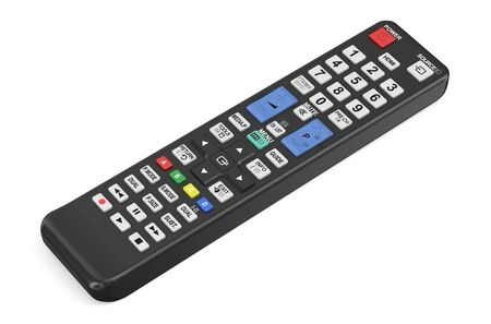 pulses: TV remote control isolated on  white background
