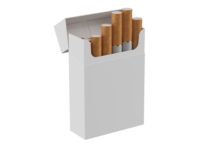 smoke stack: Pack of cigarettes isolated on white background