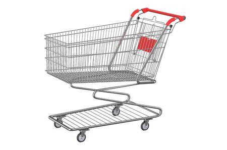 empty shopping cart: empty shopping cart isolated on white background