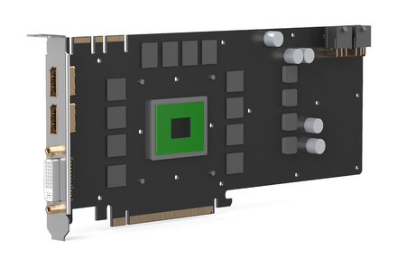 decoding: video card isolated on white background