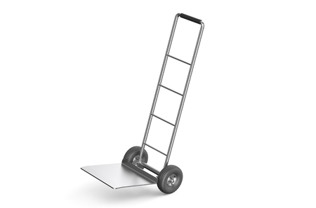 hand truck: empty hand truck isolated on white background Stock Photo