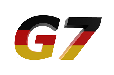 economic issues: G7 Nations in Germany concept isolated on white background Stock Photo