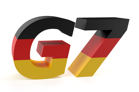 industrialized country: G7 Summit in Germany concept isolated on white background Stock Photo