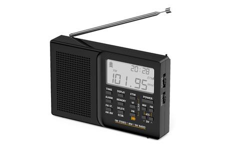 speaking tube: black digital receiver isolated on white background