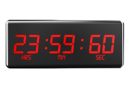 second: leap second concept  isolated on white background