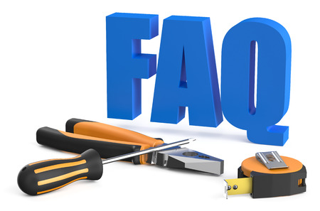 FAQ concept isolated on white background Stock Photo
