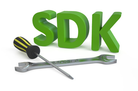 debugging: SDK concept isolated on white background