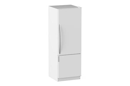 cooler boxes: white modern fridge isolated on white background
