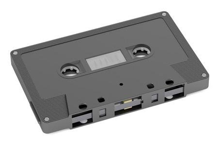audio cassette: Black Audio Cassette  isolated on white background