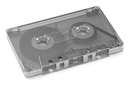audio cassette: Single Audio Cassette  isolated on white background