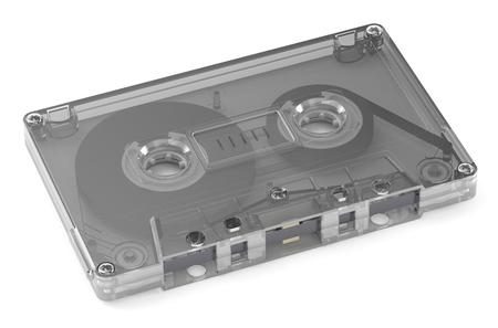 audio cassette: Single Audio Cassette  isolated on white background