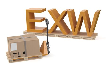 ex: EXW concept isolated on white background Stock Photo