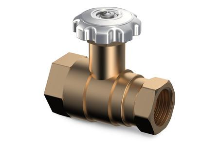 stopcock: ball valve isolated on white background