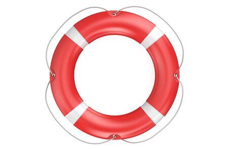 buoyancy: lifebuoy closeup isolated on white background