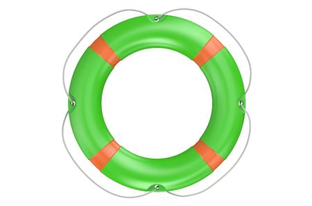 buoyancy: lifebuoy with white stripes isolated on white background Stock Photo
