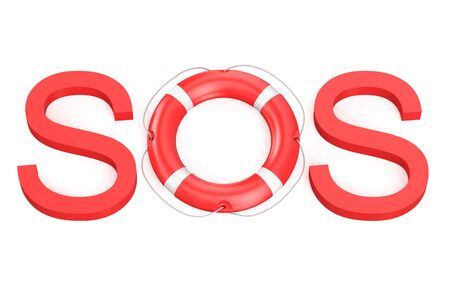 sos concept isolated on white background