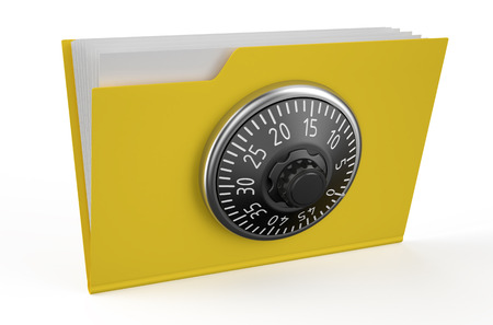 combination lock: Folder icon with combination lock