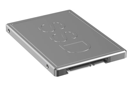 hard drive: Solid state drive SSD isolated on white background