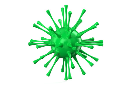 h1n1: virus concept  isolated on white background Stock Photo