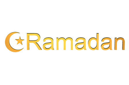 ninth: Ramadan concept isolated on white background