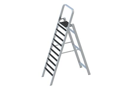 reachability: stepladder closeup isolated on white background