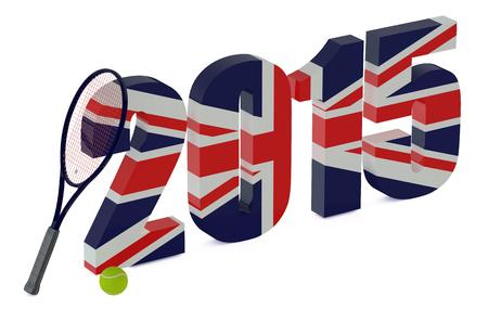 wimbledon: Wimbledon Championships 2015 concept isolated on white background