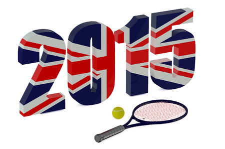 wimbledon: Wimbledon Championships 2015 isolated on white background Stock Photo