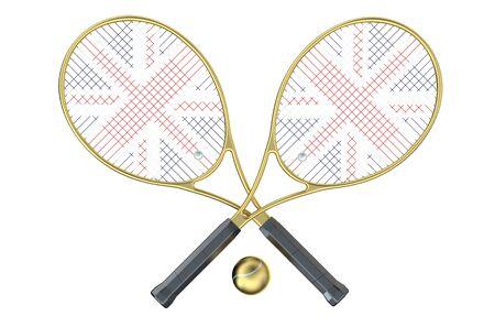 wimbledon: Wimbledon Championships isolated on white background Stock Photo