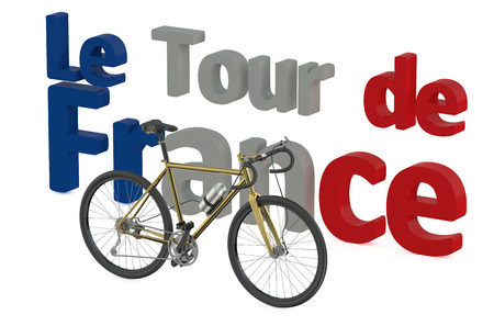 bicycle race: bicycle race  Tour de France concept isolated on white background