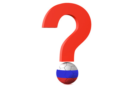cancellation: soccer championship 2018 in Russia cancellation question concept