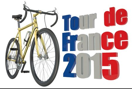 dope: bicycle race  Tour de France 2015 concept isolated on white background Stock Photo