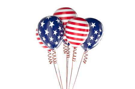 holyday: USA patriotic balloons, federal holyday concept