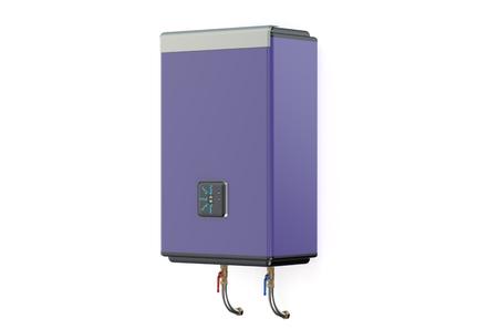 water heater: purple water heater or boiler  side view