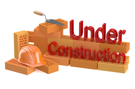 construction concept: under construction concept isolated on white background