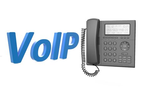 ip: VoIP concept with IP phone isolated on white background
