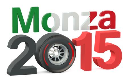 grand prix: F1 Formula 1 Italy Grand Prix in Monza 2015 concept