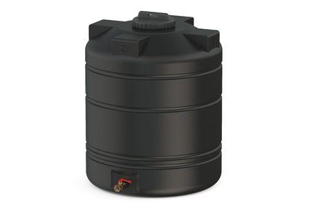 black water tank  isolated on white background