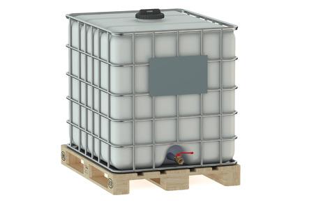 dep�sito agua: tanque de agua blanca aislada en el fondo blanco