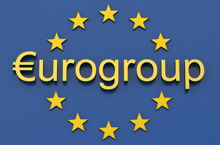industrialized country: Eurogroup concept isolated on white background Stock Photo