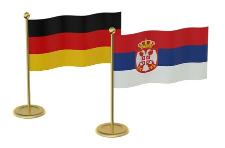 economic issues: meeting Germany with Serbia concept isolated on white background