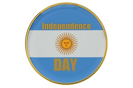 declaration of independence: Independence Day concept Argentina isolated on white background