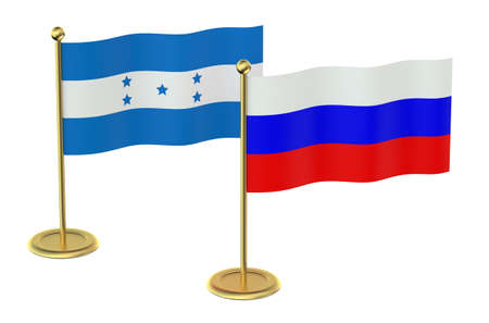 industrialized country: meeting Russia with Honduras concept