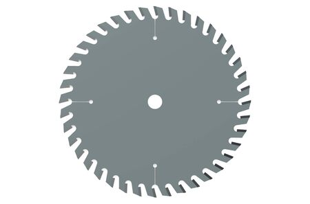 circular saw: circular saw blade closeup isolated on white background