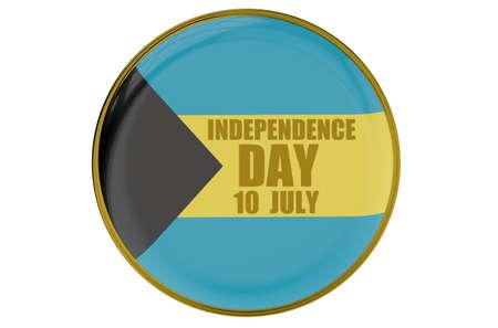 bahamas celebration: Bahamas Independence Day, concept isolated on white background