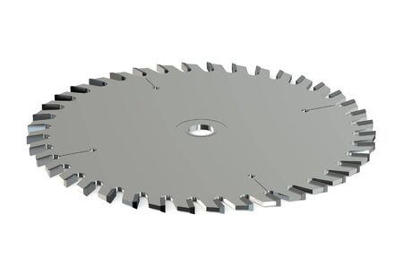 circular saw: circular saw blade isolated on white background Stock Photo