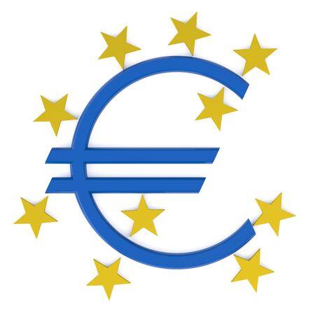 frankfurt germany: European Central Bank isolated on white background Stock Photo