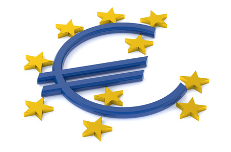 central bank: European Central Bank concept isolated on white background